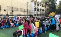 Học sinh tiểu học Hà Nội tham gia hoạt động trải nghiệm.