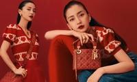 Angelababy sành điệu với sắc đỏ nóng bỏng của Dior