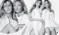 Siêu mẫu Kate Moss gợi cảm bên 'đàn em' Gigi Hadid kém 20 tuổi