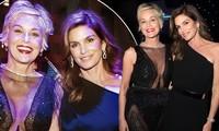 Sharon Stone và Cindy Crawford đọ sắc vóc rực lửa ở tuổi U60