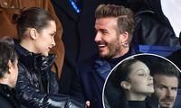 David Beckham trò chuyện thân mật cùng nàng mẫu gợi cảm Bella Hadid