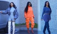Loạt trang phục bó sát khiến Kim Kardashian như quả bóng căng phồng