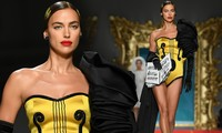 Siêu mẫu Nga Irina Shayk quyến rũ xuất thần trên sàn diễn Moschino