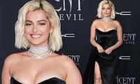 Nữ ca sĩ Mỹ tròn đầy nóng bỏng với đầm cúp ngực xẻ cao
