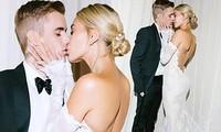 Vợ Justin Bieber siêu gợi cảm trong ảnh cưới đẹp như mơ