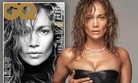 Jennifer Lopez mặt mộc khác lạ, o ép ngực căng đầy