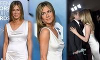 Jennifer Aniston 'quên' nội y, mừng rỡ ôm chồng cũ Brad Pitt