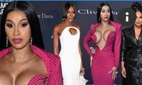 Đỏ mặt thấy nữ rapper nổi loạn Cardi B hở ngực bạo tại tiệc tiền Grammy