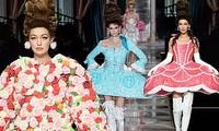 Irina Shayk và dàn mỹ nhân mặc váy lồng bàn trong show Moschino