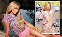 Cô nàng thừa kế Paris Hilton không nội y trên bìa tạp chí