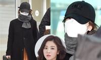 Song Hye Kyo đeo khẩu trang kín mít từ Ý về Hàn Quốc