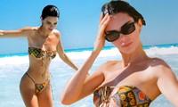 Nhớ biển mùa cách ly, em gái siêu mẫu nhà Kardashian đăng ảnh bikini tuyệt đẹp