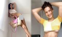 Cách ly ở nhà, Bella Hadid gây sốt với bộ ảnh che thân bằng túi xách chụp FaceTime