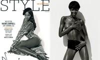 Siêu mẫu Naomi Campbell bán nude khoe đường cong 'huyền thoại'