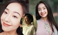 Vẻ đẹp nền nã thu hút của cô gái đóng thứ phi trong MV Hòa Minzy