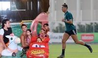 Ronaldo thư giãn bên bạn gái và các con, chạy dũng mãnh như chiến binh