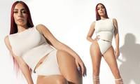 Hình thể săn chắc và 'siêu vòng ba' đẫy đà của Kim Kardashian