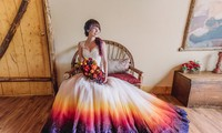 Cô gái khởi nghiệp với bộ váy cưới độc lạ
