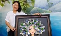 Tranh handmade độc đáo từ quả thông và dương liễu của nữ họa sĩ Đà Nẵng