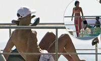 Ronaldo và bạn gái tắm nắng trên du thuyền ở Ý