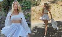 Elsa Hosk mặc váy ngắn tôn chân dài eo thon như 'búp bê Barbie sống'