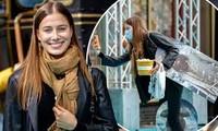 Bạn gái Brad Pitt rạng ngời với nụ cười tỏa nắng