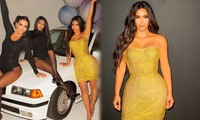 Kim Kardashian siêu gợi cảm trong tiệc sinh nhật tuổi 40