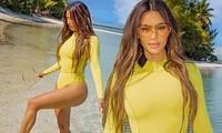 Sinh 4 con, Kim Kardashian vẫn giữ đường cong 'đồng hồ cát' ở tuổi 40