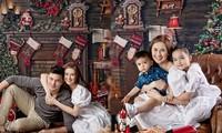 Ảnh Giáng sinh ấm áp lung linh của gia đình 'Mỹ nhân đẹp nhất Philippines'