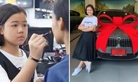 Cô bé nổi tiếng nhờ clip trang điểm, tự mua xe hơi ở tuổi 12