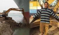 Thanh niên 26 tuổi nổi tiếng vì dùng máy xúc 'giải cứu' tàu hàng chắn ngang kênh đào Suez