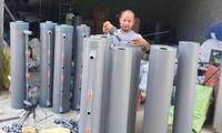 Bạn trẻ xứ Thanh sáng chế cây lọc nước bằng than hoạt tính