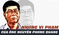 [ĐỒ HỌA] Những vi phạm của ông Nguyễn Phong Quang