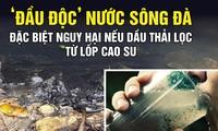 'Đầu độc' nước sông Đà: Đặc biệt nguy hại nếu dầu thải lọc từ lốp cao su
