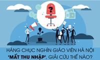 Hàng chục nghìn giáo viên Hà Nội 'mất thu nhập', giải cứu thế nào?