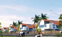 Mô hình dự án Khu nhà ở làng hoa Tiền Phong năm 2005.