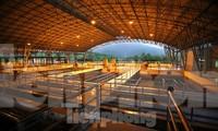Bên trong khu xử lý nhà máy sản xuất nước của Viwasupco
