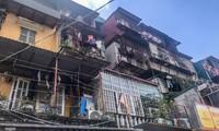 Một khu chung cư cũ mức độ D trên địa bàn Hà Nội