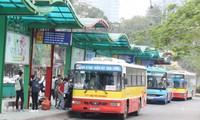 Toàn bộ xe buýt trên địa bàn thành phố Hà Nội dừng hoạt động từ nay đến ngày 15/4. Ảnh: T.Đảng