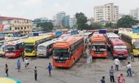 Bến xe Hà Nội được tăng cường 200 lượt xe và giá vé không tăng