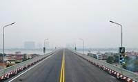 Từ sáng 7/1, phương tiện ô tô, xe buýt được lưu thông trở lại sau sửa chữa cầu Thăng Long.