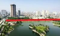 Đường dự án qua hồ Đền Lừ (đường đỏ)