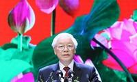 Tổng Bí thư, Chủ tịch nước Nguyễn Phú Trọng đọc diễn văn tại Lễ kỷ niệm