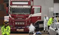 39 thi thể được phát hiện trong xe tải đông lạnh ở hạt Essex của Anh hôm 23/10. Ảnh: Sky News.