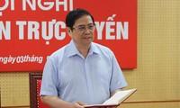 Trưởng Ban Tổ chức T.Ư Phạm Minh Chính (ảnh N.K)