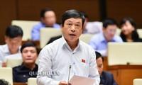 Ông Đoàn Văn Việt phát biểu tại Quốc hội.