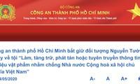 Công an TPHCM khởi tố, bắt tạm giam Nguyễn Tường Thuỵ