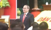 Hình ảnh phiên họp trù bị của Đại hội Đảng bộ TPHCM