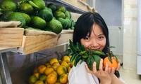 Tiệm trái cây sạch của Hiền
