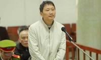 Bị cáo Trịnh Xuân Thanh tại phiên sơ thẩm vụ án thứ hai. Ảnh: TTXVN